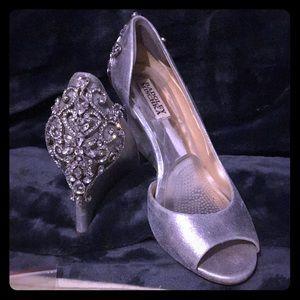 Badgley Mischka bejeweled wedding/formal wedges